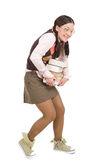 Nerd. Young adult woman as silly nerd Stock Photography