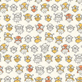 Nerd Bird Pattern. Seamless pattern of nerdy birds wearing glasses. Colors can be easily changed in vector file Royalty Free Stock Photos