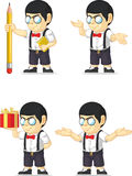 Nerd Boy Customizable Mascot Royalty Free Stock Images
