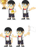 Nerd Boy Customizable Mascot 4 Royalty Free Stock Photo
