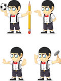 Nerd Boy Customizable Mascot 5 Stock Photos