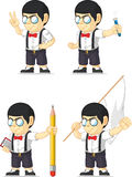 Nerd Boy Customizable Mascot 12. A vector set of a nerdy boy in several poses. Drawn in cartoon style, this vector is very good for design that need children stock illustration