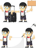Nerd Boy Customizable Mascot 15 Stock Photography