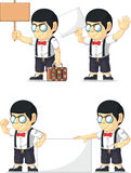 Nerd Boy Customizable Mascot 16 Stock Images