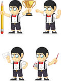 Nerd Boy Customizable Mascot 13 Royalty Free Stock Photo