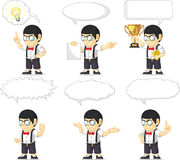 Nerd Boy Customizable Mascot 21 Royalty Free Stock Photo