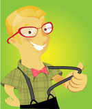 Nerd boys series Stock Images