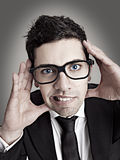 Nerd businessman Royalty Free Stock Photos