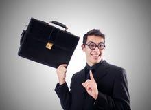 Nerd businessman against the gradient Stock Images