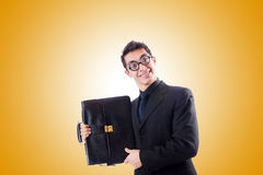 Nerd businessman against the gradient Royalty Free Stock Photography