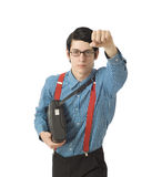 Nerd businessman superhero Stock Images