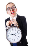Nerd businesswoman Royalty Free Stock Images