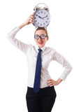 Nerd businesswoman Royalty Free Stock Photo