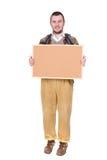 Nerd with corkboard Royalty Free Stock Photos