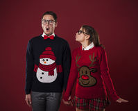 Nerd couple Royalty Free Stock Images