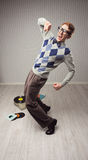 Nerd dancer Royalty Free Stock Photos