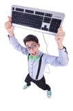 Nerd del geek del computer Fotografie Stock Libere da Diritti