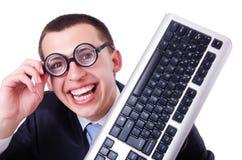 Nerd del geek del computer Immagine Stock Libera da Diritti