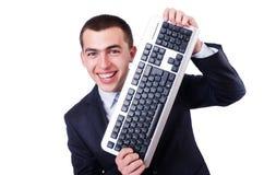 Nerd del geek del computer Immagini Stock Libere da Diritti