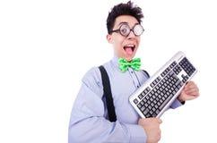 Nerd del geek del computer Fotografie Stock