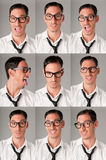 Nerd expressions Stock Images