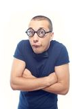Nerd in eyeglasses and bow tie Royalty Free Stock Photo