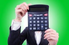 Nerd female accountant Stock Photos