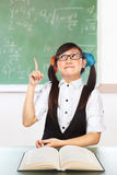 Nerd female student Royalty Free Stock Photo