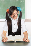 Nerd female student Royalty Free Stock Photography