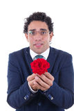 Nerd with flower Stock Photos