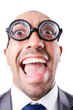 Nerd funny businessman Stock Photography