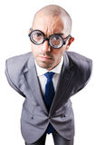 Nerd funny businessman Stock Images