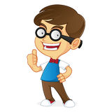 Nerd Geek giving thumb up royalty free illustration