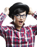 Nerd Girl Royalty Free Stock Photos