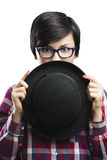 Nerd Girl Royalty Free Stock Images