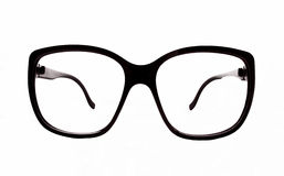 Nerd glasses. Black nerd glasses science isolated reading student exam books learning smart homework study school class pupil Royalty Free Stock Photo