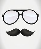 Nerd glasses and mustaches Stock Photo