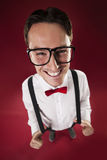 Nerd with glasses Royalty Free Stock Images