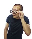 Nerd with glasses Stock Image