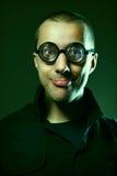 Nerd guy in glasses Stock Image