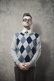 Nerd guy posing Stock Photo