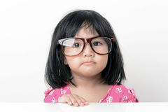 Nerd little girl portrait Stock Photos