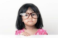 Nerd little girl portrait Stock Photos