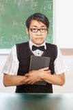 Nerd male student Stock Image