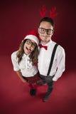 Nerd man with his girlfriend Stock Image