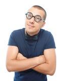 Nerd in occhiali e farfallino Immagine Stock Libera da Diritti