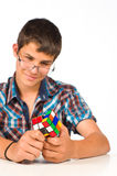 Nerd playing Stock Images