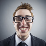 Nerd portrait Royalty Free Stock Image