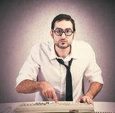 Nerd programmer Royalty Free Stock Photos
