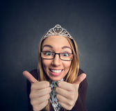 Nerd prom queen Royalty Free Stock Photos